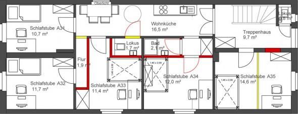 Meister-Etage Grundriss